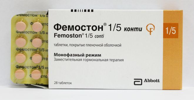 Двухфазные таблетки Фемостон