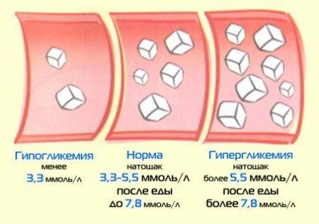 Показатели уровня глюкозы в крови