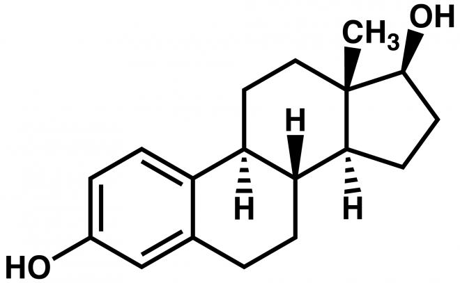 Схема молекулы эстрадиола