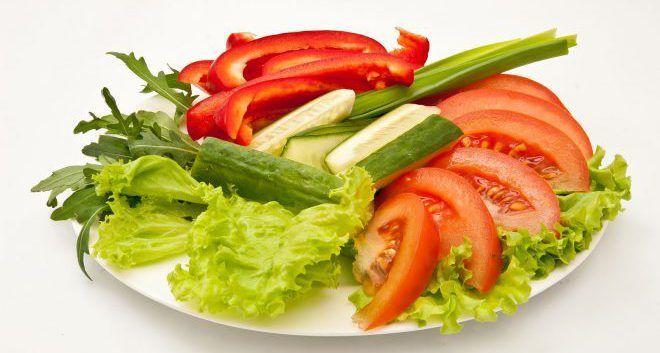 Свежие овощи для снижения тестостерона