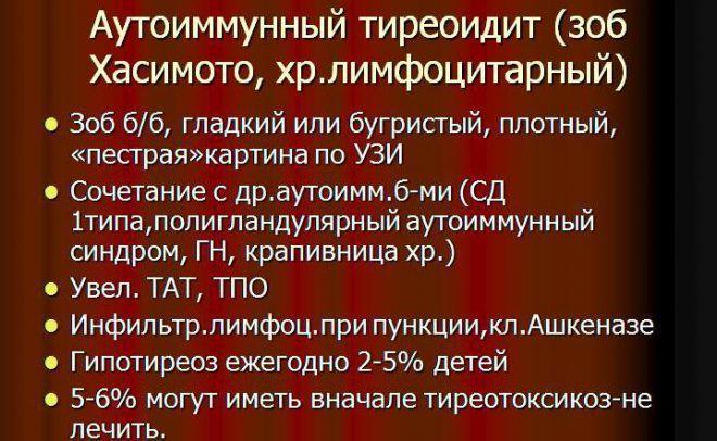 Аутоиммунный тиреоидит, зоб