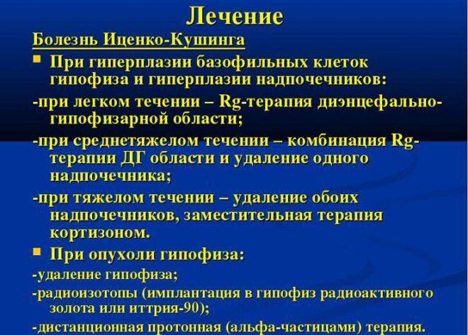 Лечение Болезнь Иценко-Кушинга