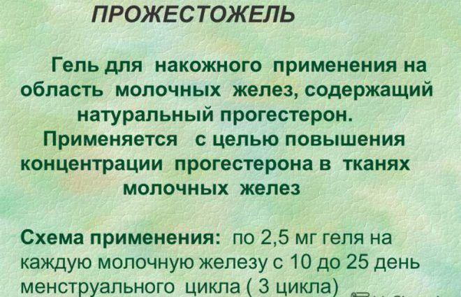 Механизм действия геля Прожестожель