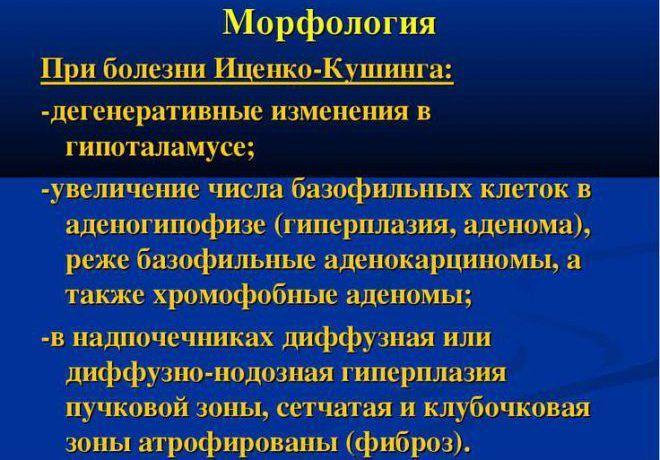 Морфология при болезни Иценко-Кушинга
