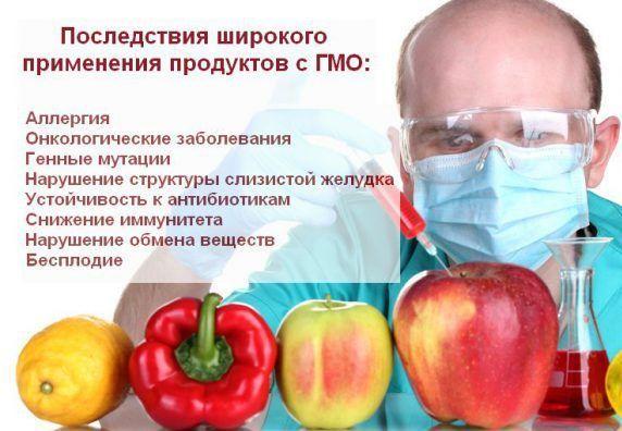 Наличие в продуктах питания ГМО