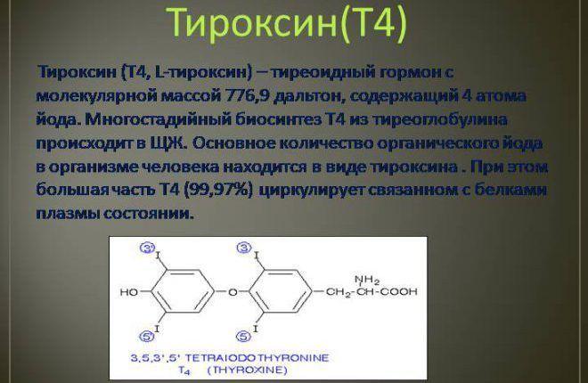 Содержание тиреоглобулина