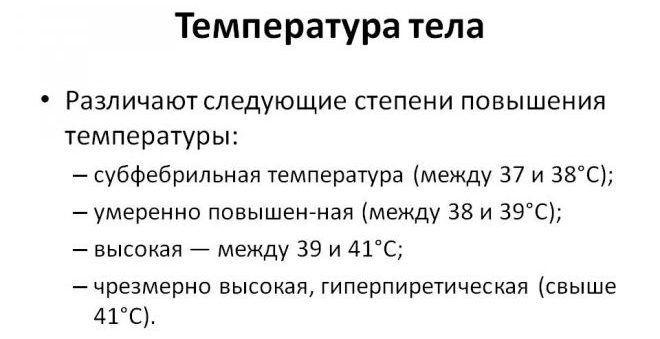 Субфебрильная температура