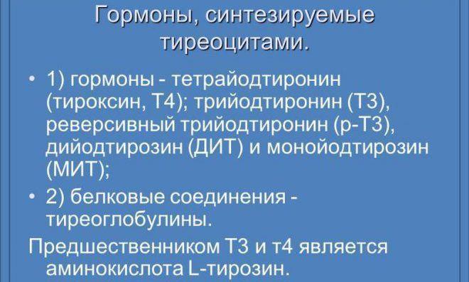 Тироксин и трийодтиронин