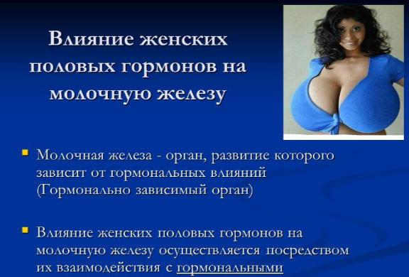 Влияние гормонов на молочные железы