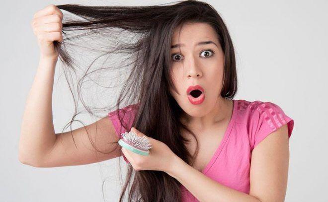 Волосы на голове местами выпадают