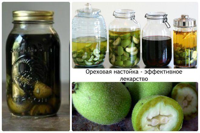 Ореховая настойка - эффективное лекарство