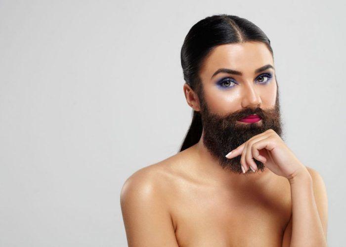 Волосы на лице у женщин
