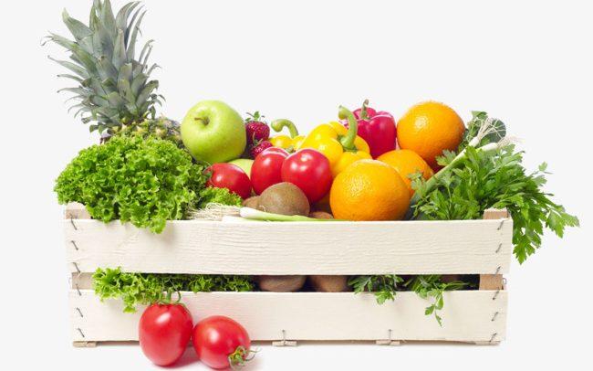 Есть свежие овощи и фрукты